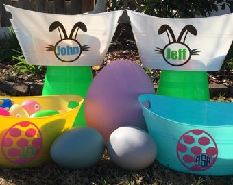 Personalized Spring Buckets; Bunny and Egg Buckets