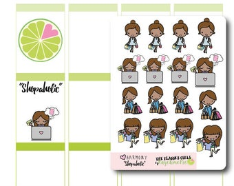 The Planner Girls 'SHOPAHOLIC' Stickers