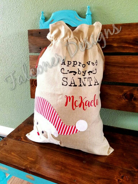 how to make a burlap santa bag