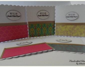 Just to say 'JazakAllahu' khair' Card, Handmade Islamic cards, thank you card, mini card