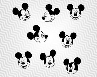 Mickey Mouse, Outline, Cutout, Vector art, Cricut, Silhouette Cameo, die cut, instant download, Digital Cut, Print Files, Ai, Pdf, Svg, Dxf
