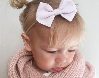 Classic white signature bow headband