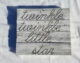 Nursery Rhym Neutral Nursery Accent, Twinkle Twinkle Little Star, Star Light