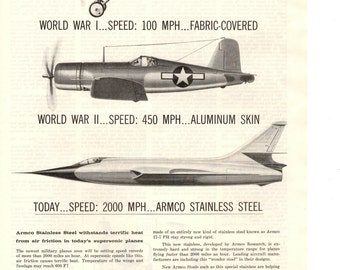 1956 Armco steel corporation vintage magazine ad wall decor military collectible ad