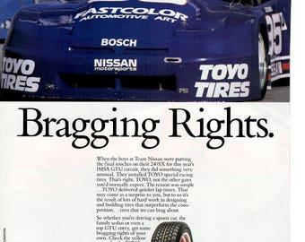 1989 Toyo tires vintage magazine ad wall decor (1704)