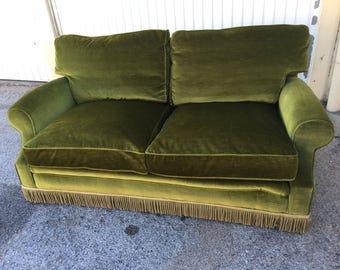 Vintage 60s in Green Velvet sofa