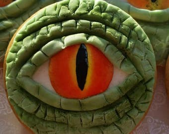 Dinosaur cookies, Party favours, party bag fillers, dinosaur eye, edible gift, edible party favours