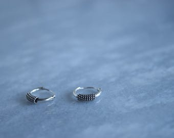 Bali 925 Sterling Silver Hoops Earring