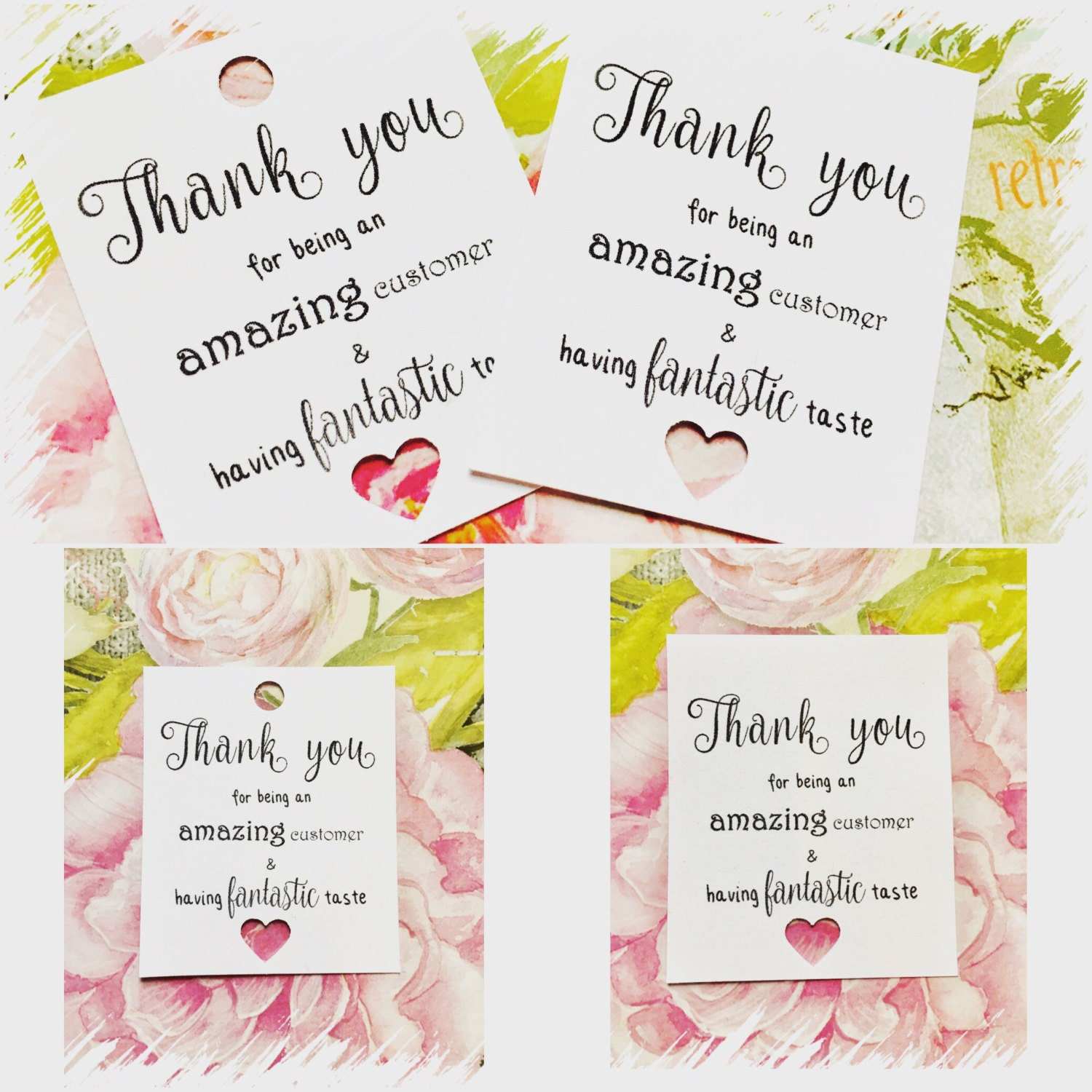 You Re Amazing Thank You: 25 Thank You For Being An Amazing Customer Tags / Postage