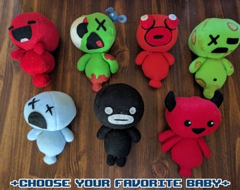 The Binding of Isaac Familiar/Baby Plushies (Made To Order)