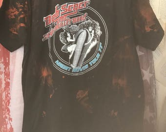 Bob seger  and the silver bullett band tee bleached