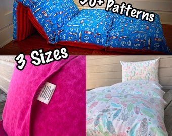 Pillow Beds for Boys & Girls - 3 Sizes; Over 50 Patterns to Choose From!