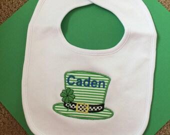 St Patricks Day bib, baby bib, bibs, boy bib, bath and beauty, baby and child care, bibs and burping, new baby gift, St Patricks Day baby