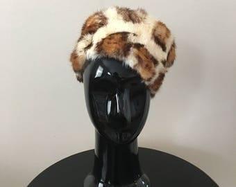 Vintage Fur Leopard Hat