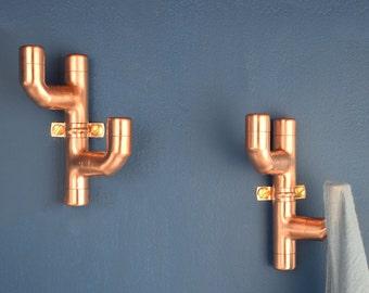 Copper Coat Hook Cactus Style 2