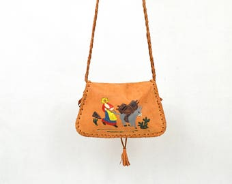 Soft Leather Hand Painted Hipbag