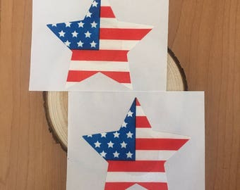 Red White and Blue Fourth of July Star Flag Nipple Cover Pasties Rave Festival Wear