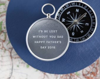 Personalised Engraved Father's Day Compass