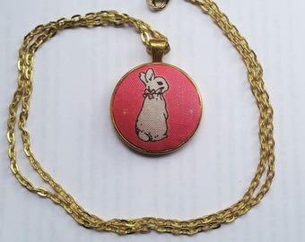 Beatrix Potter Fabric Necklace