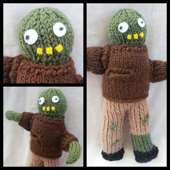 Zombie Knitting Pattern : Zombie knitting pattern to make your own knitted doll