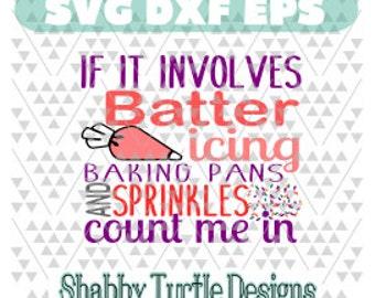 Batter, Icing and Sprinkles SVG DXF EPS
