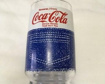 1970s Coca Cola Denim Glass