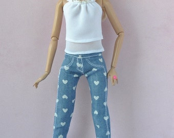 Beautiful top and jeans pants for Barbie Fashionistas dolls
