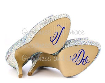I Do - Peel  and Stick Vinyl for the Bottom of Your Wedding Shoes - Bride Bridal Gift - Fun Photo Op - Various Colors and Fonts Available