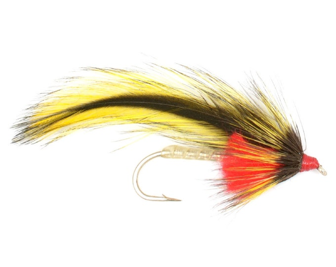 Hand-Tied Fly Fishing Trout Flies: Platter River Special Streamer Wet Fly- Hook Size 4