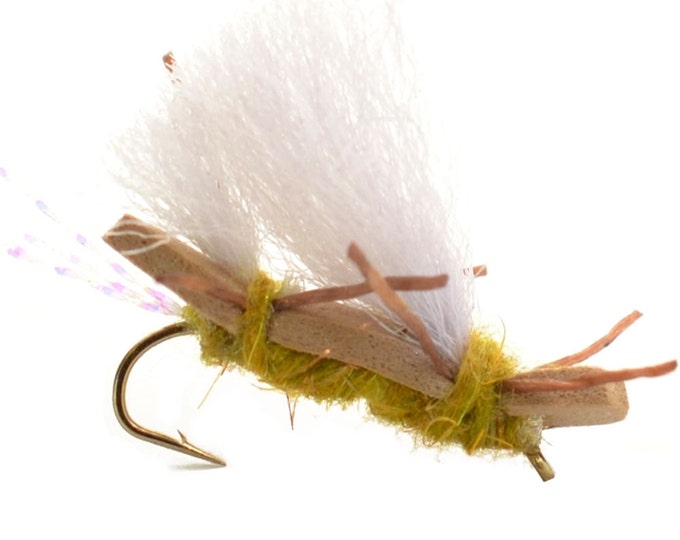 Hand Tied Trout Flies: Chubby Chernobyl Ant Dry Fly - Golden - Hook Size 10