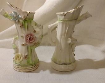 Set of 2 Norcrest Teapot Vase Made in Japan