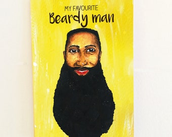 Fav beardy man | valentines day card, birthday card, all occasions greeting card