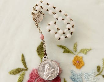 Chaplet of St. Therese, the Little Flower - Vintage Catholic Devotional from France