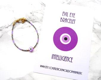 Dainty evil eye bracelet, evil eye jewelry, wish bracelet, protection bracelet, delicate fine jewelry, minimalist bracelet, modern simple