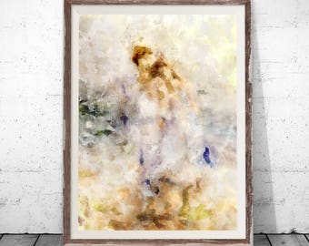 Abstract Art, romantic art, Abstract Paintings, Modern Abstract Art, Brown Paintings, Romantic print, Brown Wall Art, Romantical wall art