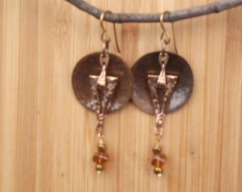 Bronze/Madiera citrine earrings