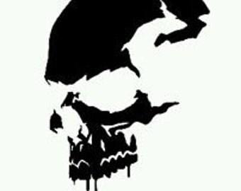 Skull Decal - Skull Sticker - Skull Vinyl
