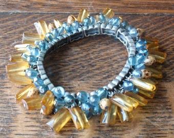 Art Deco Amber and glass bracelet