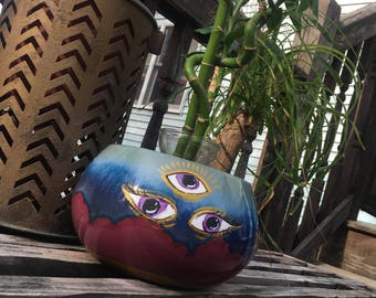 Third eye Ceramic flower pot