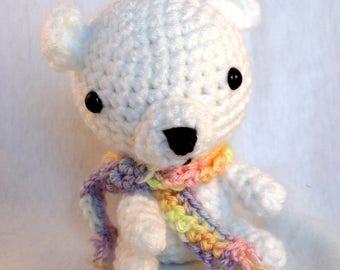 Amigurumi Polar Bear, Crochet Bear, Polar Bear plush, Arctic Bear, Handmade, White Bear, Crochet Plush, Arctic Bear, Arctic Animal