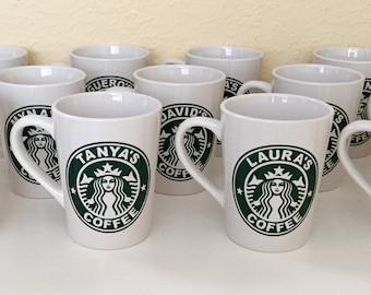 Personalized Starbucks mug / Starbucks mug / 14oz Starbucks mug