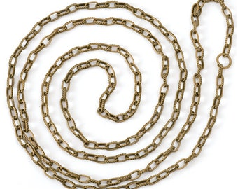 Chain Style A - Antiqued Imitation Gold Finish