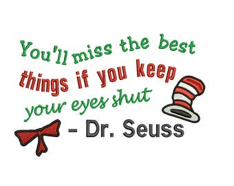 Dr Seuss You'll miss the best 4 sizes. The first three sales at  1 doll.  Embroidery Design  Instant Email Delivery Download Machine