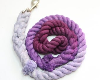 Perfect in Purple - Soft Rope Leash