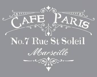 "Americana Decor Stencil 12""X12"" Cafè Paris"