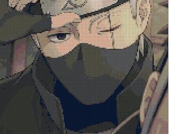 Kakashi Hatake - Naruto character cross stitch pattern