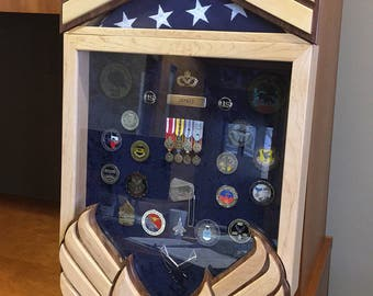Heritage Air Force Retirement Shadow Box