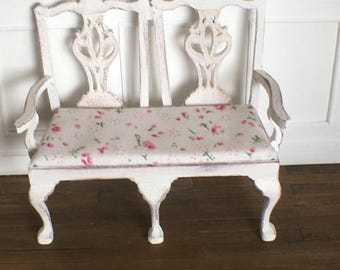 Miniature Bench Shabby Chic