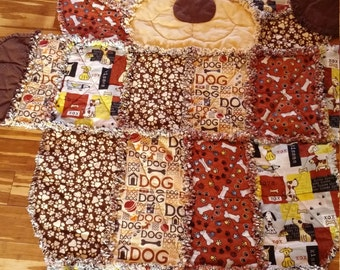 DOG Rag Quilt-To be special ordered
