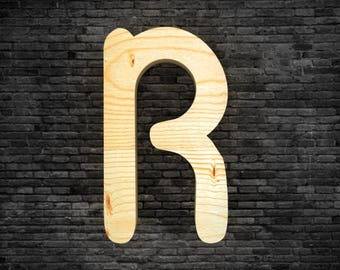 Letters in wood - R